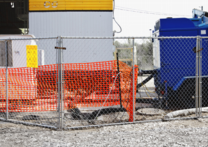 Temporary fencing for construction sites
